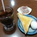 サンパウロ松葉 - 料理写真:アイスコーヒー350円、モーニング
