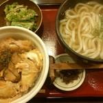 うどん土佐屋 - 16/9 ミニ親子丼セット:750円+丼普通サイズ:100円(=850円)