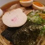 四代目麺処 ゆうじ - あっさり醤油 ちぢれ麺 +大盛+あじ玉