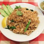 ティーヌン - カオ・パッ・パッカナー:タイ野菜「カナー菜」の炒飯(860円)