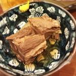 牛たん料理 閣 - お通し 牛たんの角煮
