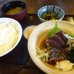 司 - 鰹のたたき定食(1300円)