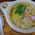 なかがわ - 料理写真:鍋焼きラーメン(550円)