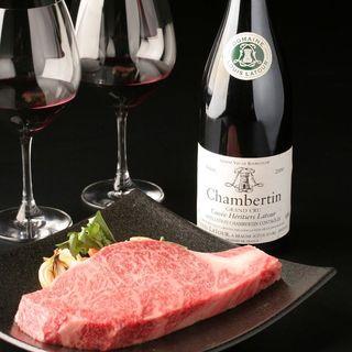ワインと鉄板焼きの美味しいマリアージュ!