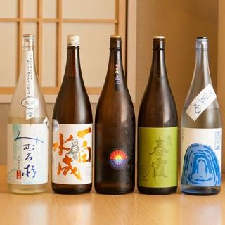 季節の日本酒を常時10種類以上