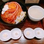 ローストビーフ大野 - ローストビーフ丼定食    肉増し     ¥1611
