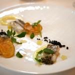 イル プレージョ - 白身魚の炙り ジャガイモのクレーマとチップス