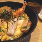 串かつ 花むら - 海老ヒレかつ丼(1274円)