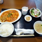 56459658 - 海老のチリソース煮定食