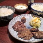 炭焼牛たん東山  - (夜)牛たん定食¥1680(税抜)