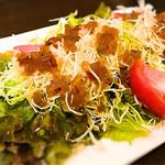 大山どり 海鮮 凜 - このサラダはオススメ! 手作りドレッシング旨し!