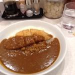 カレーハウス リオ ジョイナス店 - カツカレー大辛 750円                             卓上のらっきょうと福神漬けは取り放題