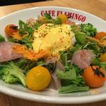 Kafefuramingo - フラミンゴサラダ950円(税別)…野菜たっぷりでヘルシーです♡