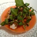 セゾン - 真鯛のグリエGazpachoソース、飲むサラダです
