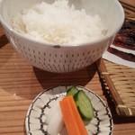 藁焼 みかん - たまらずオーダー白いご飯!  まだ締めじゃないですよー