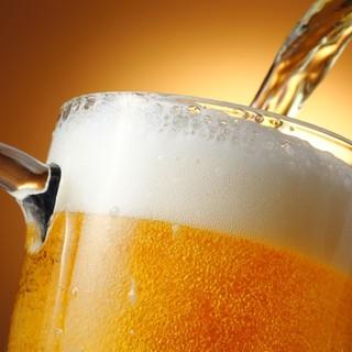 ドリンクも充実♪生ビール、焼酎、日本酒、ワインも!