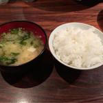 暖団家 - 味噌汁とライス