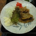香とり - 豚バラ肉生姜焼 美味しんぼ特製です。
