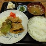 香とり - 豚バラ肉生姜焼定食 750円
