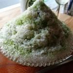 散ポタカフェのんびりや - かき氷 抹茶