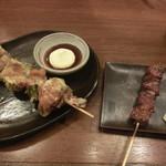 三代目 鳥メロ - レタス巻串&牛タン串
