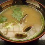季節料理 中西 - あさりの味噌汁