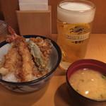 天丼てんや - サンキュー天丼とビール(2016年9月)