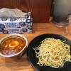 つけ麺道たけし - 料理写真:ちょっと寂しい佇まいの辛つけ麺('16/09/24)