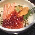鮮魚えびすや - 蟹・雲丹・イクラ丼@1000円