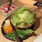 しゃぶしゃぶ温野菜 - 最初に出てくる野菜とお肉