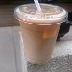 ライブコーヒー - アイスカフェオレ(ノンシュガー):250円