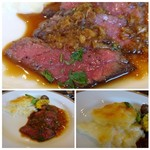 Bistro TOKI - お肉自体も柔らかいですし、ソースもいいお味。 添えられたジャガイモグラタンも美味しい。