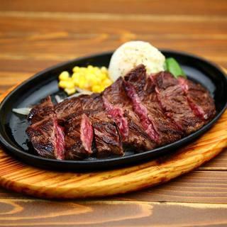 「肉屋のステーキ」厚切りハラミ/男のサーロイン/オリーブ牛