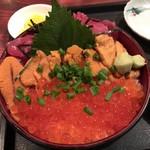 食事処よかった - 三色丼1380円(^^)