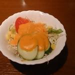 シディークパレス - ランチのセットのサラダ