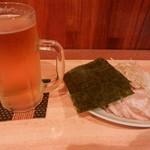 とよなり家 - 料理写真:ネギチャーシュー&生ビール