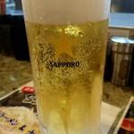 ラーメン道楽 - 生ビール