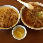 56496676 - 中華+カツ丼(味噌汁抜き)                         1.150円