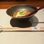 Ichiyo - 付き出し 枝豆を使った豆腐