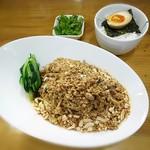 雲林坊 - 本場成都の「汁なし担担麺」+パクチー【香菜】+こしひかりご飯【中】