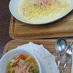 カフェ ニュージンジャー - 新生姜カルボナーラ、新生姜スープ