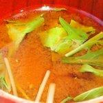 お野菜バル めい - お野菜バル特製ランチ日替り魚 1550円 の味噌汁