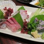 56506069 - おすすめ鮮魚6点盛り 1680円(2016年9月)