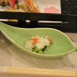 御船山楽園ホテル - 小鉢 桜海老と胡瓜の麹和え