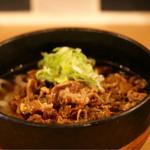 天ぷら串ともつ鍋 奥志摩 - 肉うどん