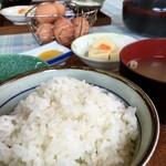 弁天の里 - 白ご飯が、、、(^_^;)