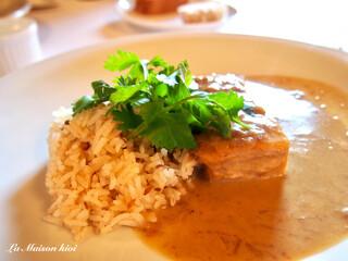 ラ・メゾン・キオイ - 添えられたジャスミン米も美味しい