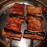Chikuzenya - 豚バラ味噌ダレ¥150×2