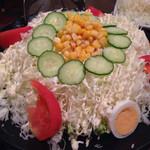 Chikuzenya - 野菜サラダレギュラー¥380、山盛りです!