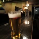 サマサマ - ビール+キャベツ+串4本の「ポパイセット 980円」(2016年9月)
